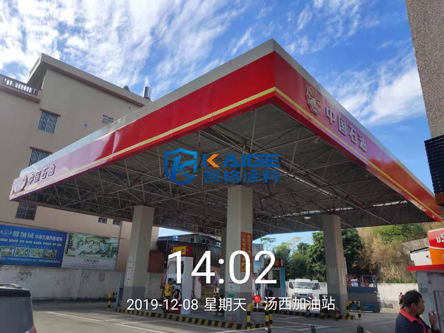 广东地区 中国石油加油站翻新油漆 棚罩翻新 背景翻新 广告牌翻新油漆