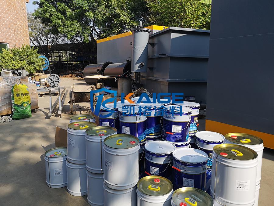 碳钢一体化污水处理设备防腐 一体式农村净化设备防腐油漆