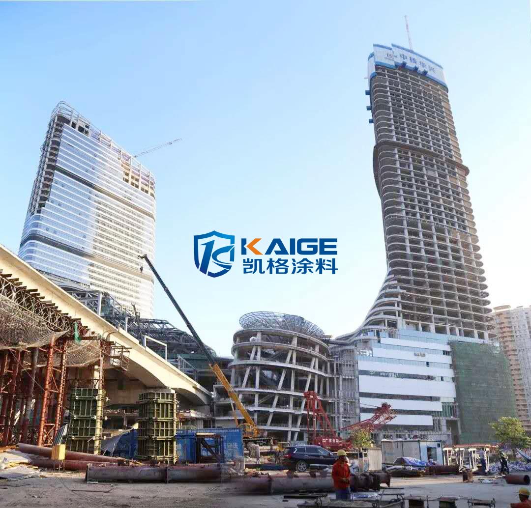 广州新塘凯达尔钢结构重防腐油漆 室内钢结构防腐 电梯井钢结构防腐